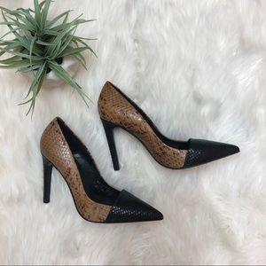 Zara Tan and Black Heels Size 7.5